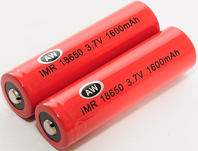 IMR 18650 batteries