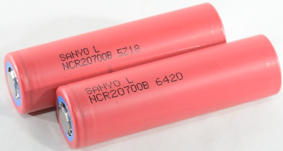 Test/review of Sanyo NCR20700B 4000mAh (Red)