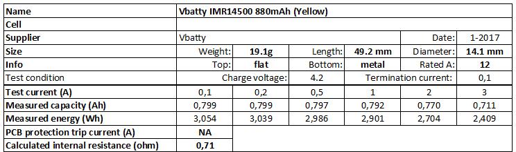 Vbatty%20IMR14500%20880mAh%20(Yellow)-info
