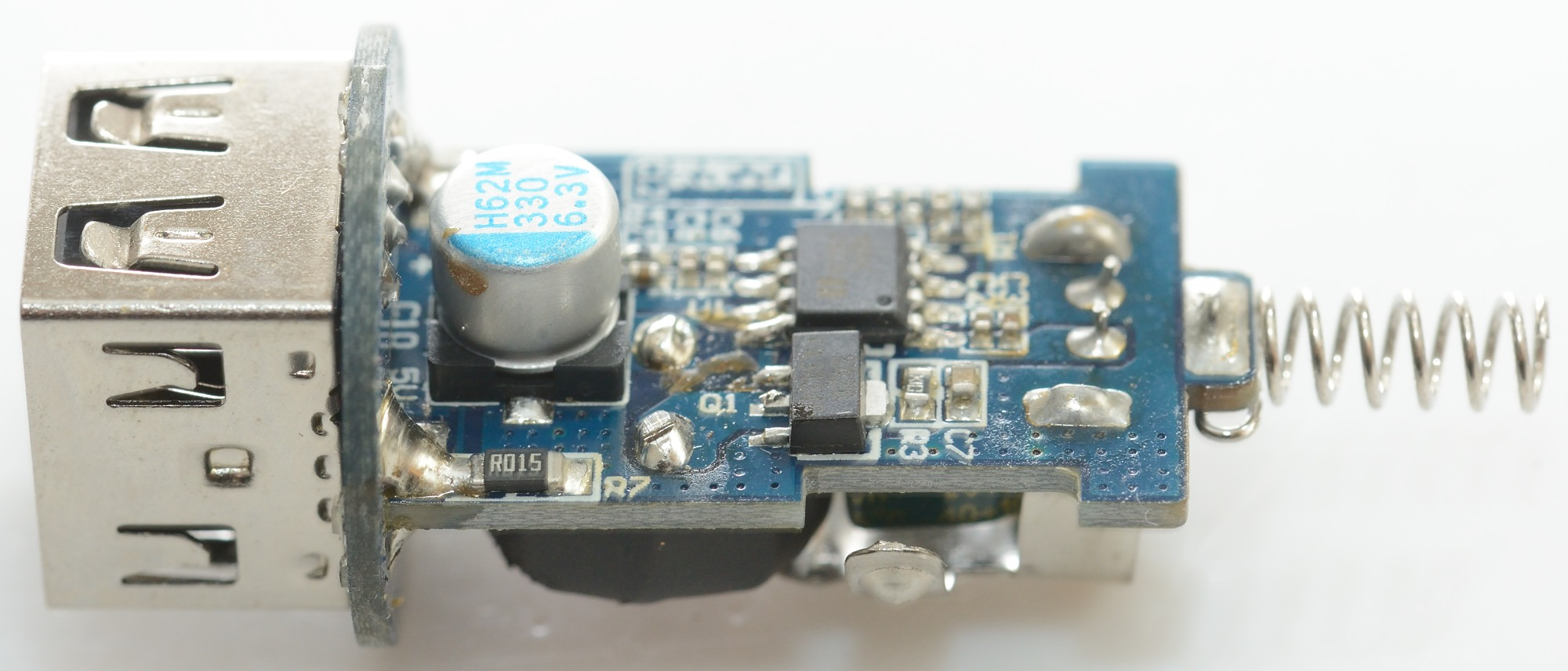 Test Review Of Chuwi Ublue Dual Usb Car Charger C 100 Circuit Diagram On The Round Board Is A Small Ic This Chip For Automatic Coding Outputs