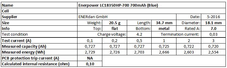 Enerpower%20LC18350HP-700%20700mAh%20(Blue)-info