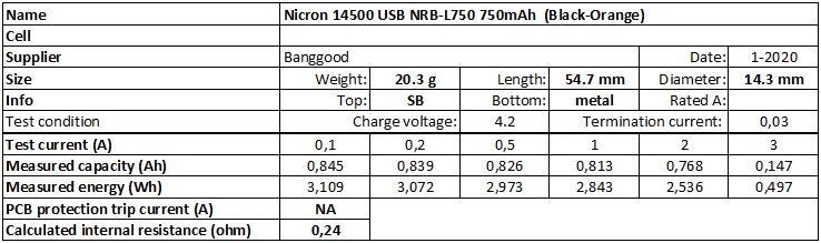 Nicron%2014500%20USB%20NRB-L750%20750mAh%20%20(Black-Orange)-info