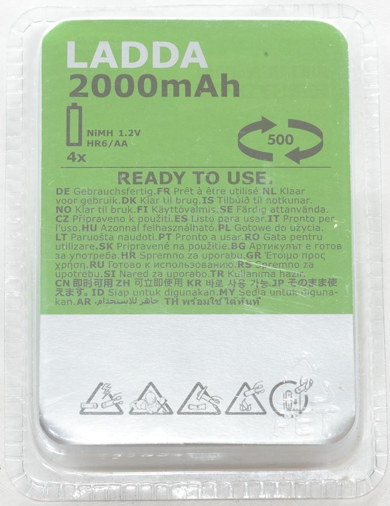 Test Of Ladda Aa 2000mah Green Silver