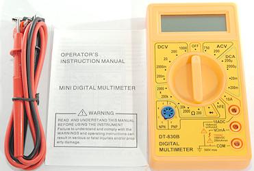 MULTÍMETRO DIGITAL DT-830B - El más económico del mercado
