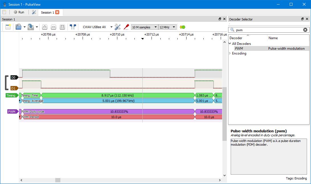 Review of USBEE AX PRO Logic Analyzer 8 channels 24MHz