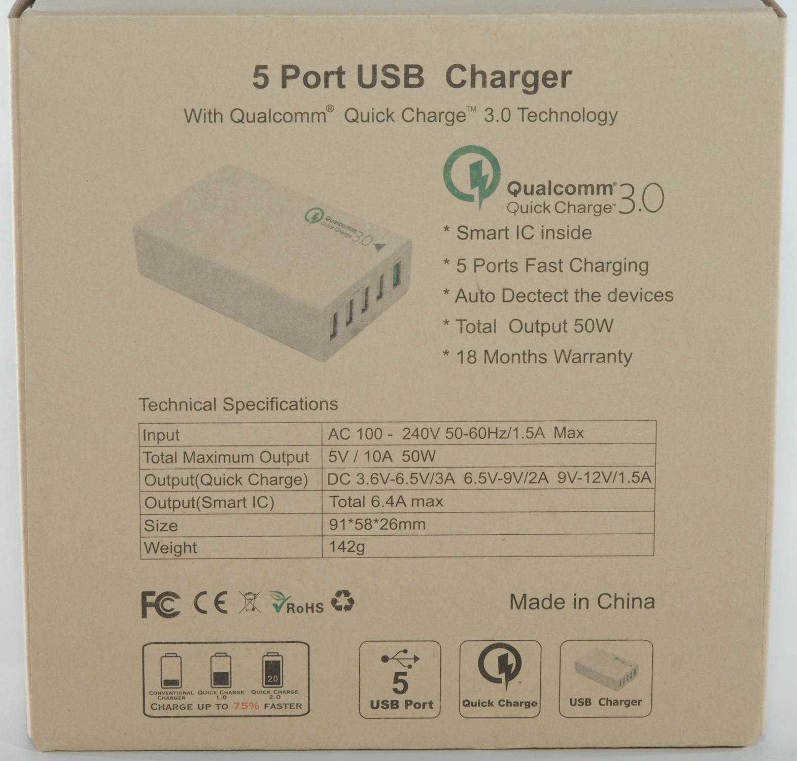 Test Review Of Fonken 5 Port Usb Charger Qc3 5u01q3 5v 10a 50w Offline Switching Power Supply Circuit Diagram Dsc 6494