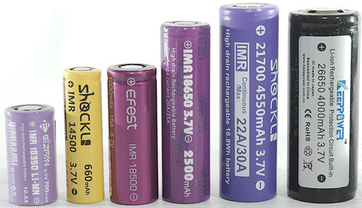 1200mAh 3.7V 10A Purple Rechargeable Batteries for Flashlight 2 Pack of IMR 18350 Battery Flat Top